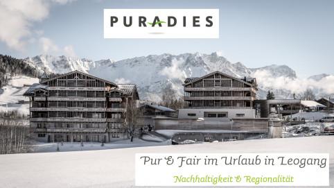 Puradies Leogang, Hotel & Chalets, Pur & Fair, CSR-/Nachhaltigkeitskonzept